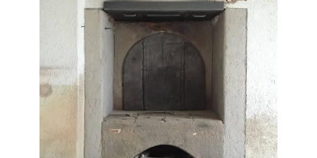 Une cheminée après aérogommage